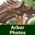 See photos of some of the many different arbors available from Berco Redwood