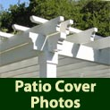 See many different patio covers in a variety of configurations and settings