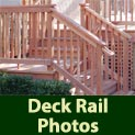 See photos of many different deck railing options
